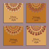 Set of cards with ethnic design Royalty Free Stock Images