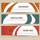 Set of cards in ethnic style Royalty Free Stock Image