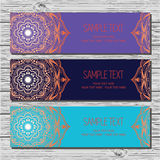 Set of cards in ethnic style. Stock Image