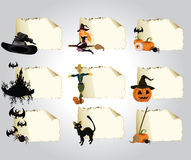 Set of cards halloween Royalty Free Stock Photos