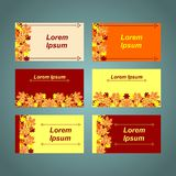 A set of cards with the inscriptions Royalty Free Stock Images