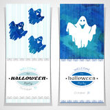 Set of cards for invitation to Halloween party. Royalty Free Stock Photo