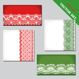 Set of cards with lace Royalty Free Stock Image