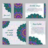 Set Of Cards With Mandala4 Stock Photography