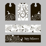 Set of cards with pumpkins Stock Images