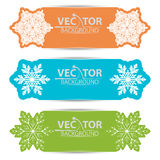 A set of cards with snowflakes. Set of festive vector banners cards with snowflakes Vector Illustration