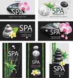 Set of cards for SPA salon Royalty Free Stock Images