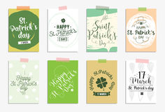 Set of cards for St. Patricks day. Typographic design elements Stock Photo