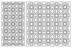 Set of cards to cut. Vector panels for laser cutting. The ratio 1:2, 1:1. Cut silhouette with geometric patterns. Royalty Free Stock Images
