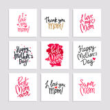 Set cards to the Happy Mother`s Day Stock Image
