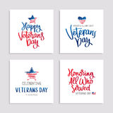 Set of cards to Veterans Day Royalty Free Stock Photography
