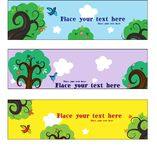 Set of cards tree Royalty Free Stock Photo
