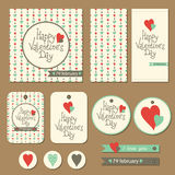 Set of cards for Valentine's day Royalty Free Stock Photos