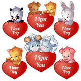 Set of cards for Valentines Day Royalty Free Stock Images