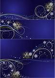 Set of cards with vector Christmas design Stock Photography