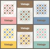 Set of cards in vintage colors Royalty Free Stock Images