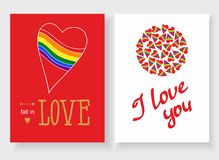 Set of cards for your design. Love. Stock Photo