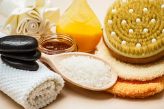 Set for care of skin body, bath accessories Stock Image