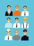 Set of Career man worker. Stock Photos