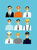 Set of Career man worker. The Set of Career man worker Stock Illustration