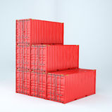 Set of cargo 3d container delivery Stock Photos