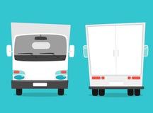 Set of cargo truck. Cartoon vector illustration. Moving van Royalty Free Stock Photo