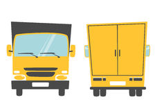Set of cargo truck. Cartoon vector illustration. Moving van Royalty Free Stock Images