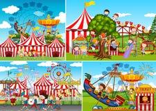 A set of carnival fun fair royalty free illustration
