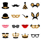Set of Carnival Icons and Objects Stock Images