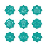 Set of carnival icons. Collection vector illustration graphic design stock photography