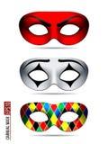 Set of Carnival Mask stock illustration