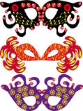 Set of carnival masks Royalty Free Stock Images