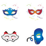 Set of carnival masks Stock Image