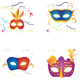 Set of carnival masks Stock Photography
