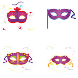 Set of carnival masks Royalty Free Stock Photo