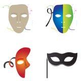 Set of carnival masks Stock Photo