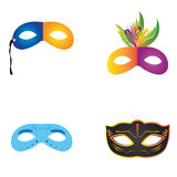 Set of carnival masks Royalty Free Stock Photography