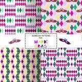 Set of carnival patterns Royalty Free Stock Photos