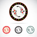 Set of  carp koi label Royalty Free Stock Images