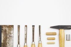 Set of carpenter's tools Stock Image