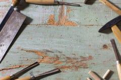 Set of carpenter tools Royalty Free Stock Photo