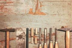 Set of carpenter tools Stock Photo