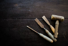Set of carpenter tools Stock Photography