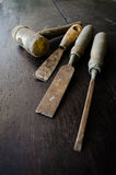 Set of carpenter tools Stock Images