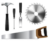 Set of Carpenters Tools Stock Image