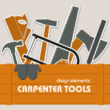 Set of carpentry tools Stock Photos