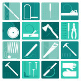 Set of carpentry tools Stock Images