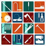 Set of carpentry tools Stock Image