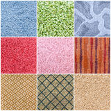 Set of carpet samples Stock Image