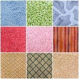 Set of carpet samples Stock Image